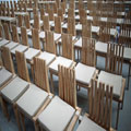 Chairs, Cardboard Cathedral