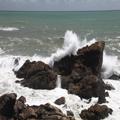 Waves Crash at Tauranga Bay