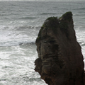 Closeup of Pancake Rock Face